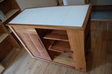 レッドシダー キッチンワゴン 家具