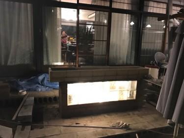 BBQテーブル レッドシダー DIY