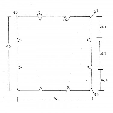 セランガンバツ 角材スリット図面