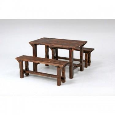 焼杉テーブル&ベンチセット