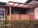 レッドシダーのウッドデッキ 扉、フェンス、パーゴラ