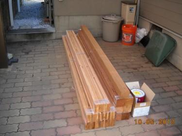 ウッドフェンス レッドシダー 材料