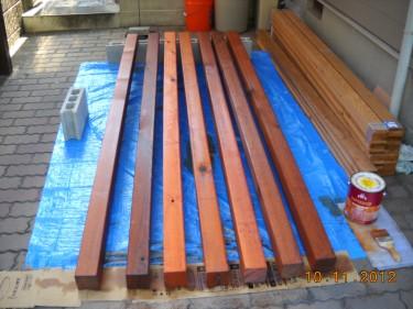 ウッドフェンス レッドシダー 塗装