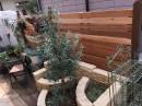 ウエスタンレッドシダーのウッドフェンス DIY