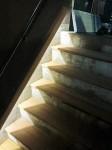 外部の既存RC階段の仕上げをウリンの踏面材にて