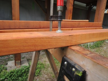 高床式デッキDIY(レッドシダー)スカーフ継手