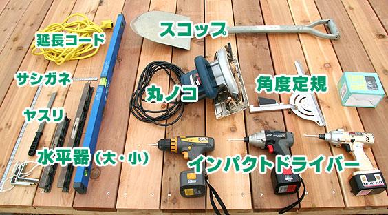 用意した工具・道具