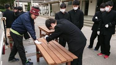 卒業記念 ガーデン テーブル&ベンチ