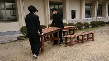 卒業記念 テーブル&ベンチ